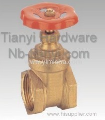 Horizontal Manual Brass Red Color Handle Gate Valve for Water