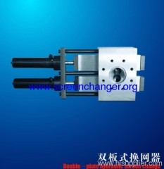 double plates continuous hydraulic screen changer