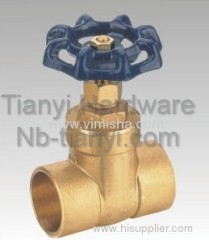 Horizontal Manual Brass Two General Formula Gate Valve