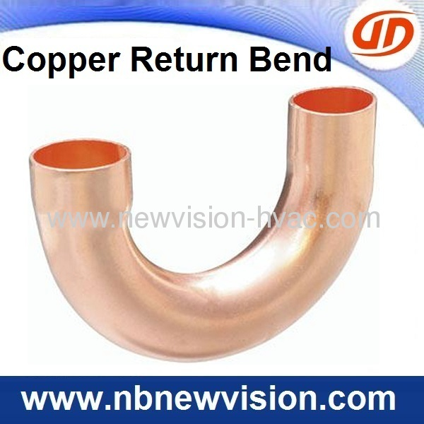 Copper return bend for air conditioner fan coils