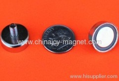 Neodymium Cup Magnets w/M4 Threaded Male Stud 5/8 inch