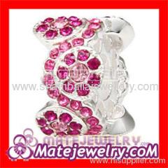european style crystal Daisy charm beads