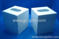 Rectangular shape of the brightest blue tissue showcase