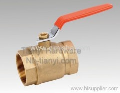 "1/2"" ~ 2"" Forged Brass Red Handle Two General Formula Hard Seal Threaded Ball valve"