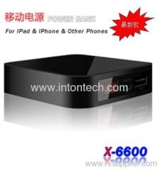6600mAh portablet power bank for cellphone, ipad, digital cameras