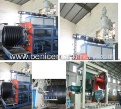 HDPE large calibre hollowness wall spiral pipe extrusion line