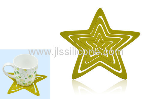 lovely star silicone cup or pot sheet mat