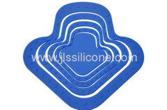 Arrow silicone anti heat cup mat