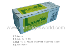 Superior performance Fine workmanship Recycling Kyocera TK-590 Y toner kit toner cartridges