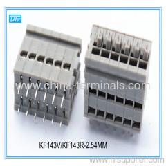 PCB Frühling Anschlussblock 2,54 mm Pin Header rechtwinklig versetzt dual