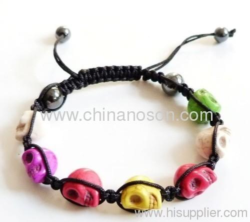 Stylish Sgamballa Bracelet with Skull Crtstal