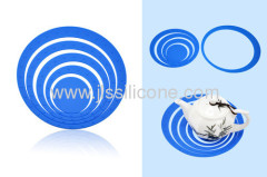 anti skid silicone cup and pot mat in round shape