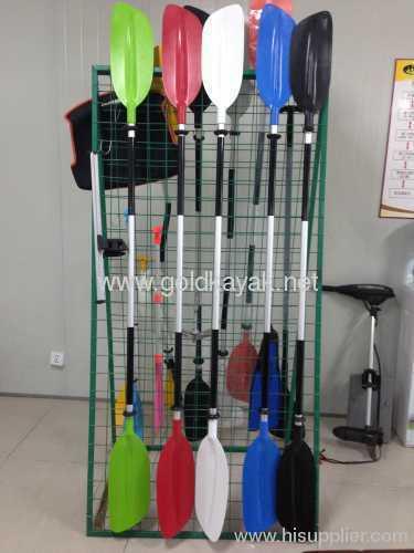 kayak plastic paddle PE + aluminum alloy material