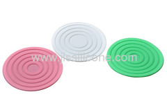 Mini round heat insulation silicone cup mat