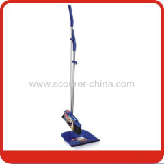 Long handle and light Dustpan & Broom set with Blue black and silvery