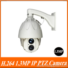 H.264 1.0MP 1/3'' SONY IMX036 1 Laser LED Array, IR View 300m High Speed Dome Camera.
