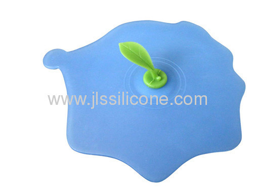 Silicone tea teap cup or glass lid and cover