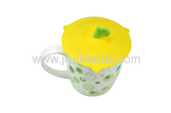 round handle silicone cup and glass lid