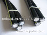 Bare conductor AAC 1X50+AAC conductor XLPE insulated 2x50 ABC power cable