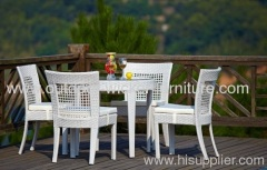 Garden rattan furniture dining table and chairs