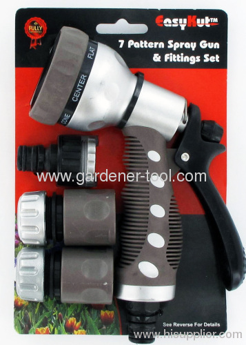 plastic garden water spray gun with connector