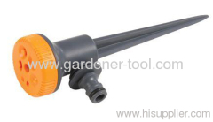 Plastic Garden Stationary Sprinkler With Plastic Spike