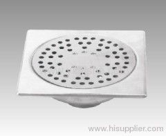 Square Stainless Steel Siphon Floor Drain with Clean Out