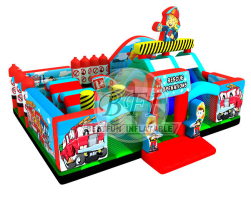 Inflatable Little Builders Playground For Kids Play