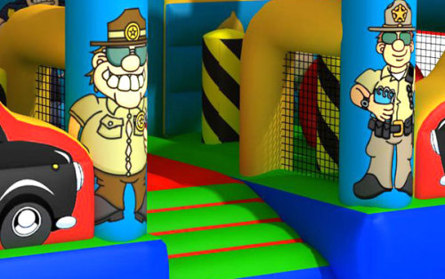 Police Theme Castles Inflatables