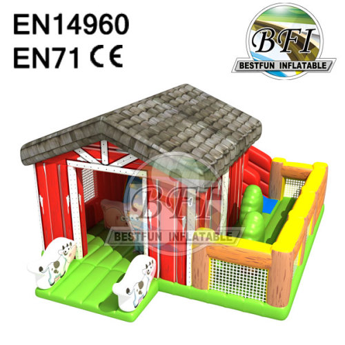 Animal Farm Inflatable Bounce And Slide Combo