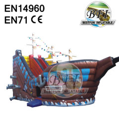 Inflatable Pirate Ship Castle