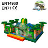 Green Jumping Castle Safari Bounce House Sale