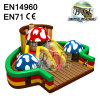 Indoor Colorful Mushroom Jumping Castles Inflatable