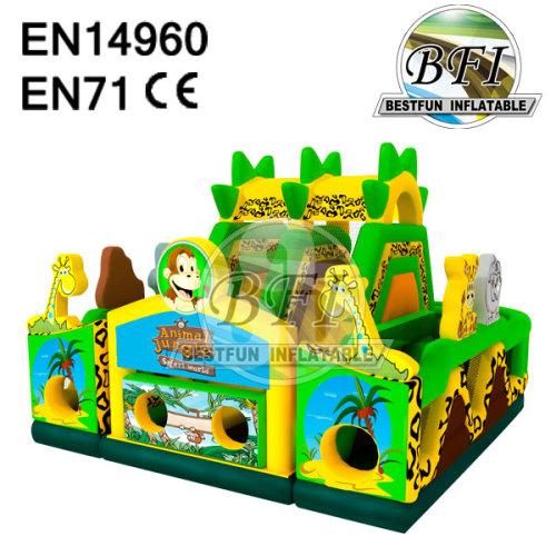 Inflatable Jungle Bounce Castle Combo