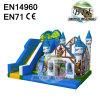 Blue Vikings Dinosaur Inflatable Castle