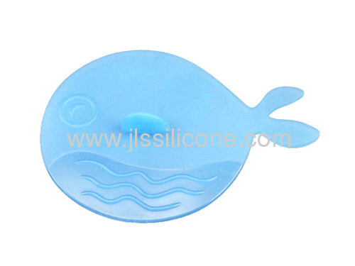 silicone cup lid with fish shaped handle