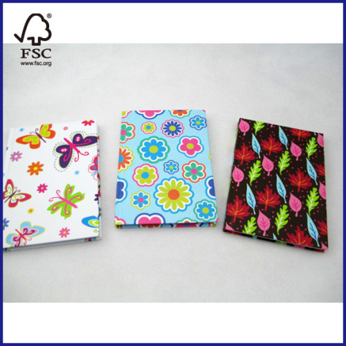 hardcover notepad with 3 designs