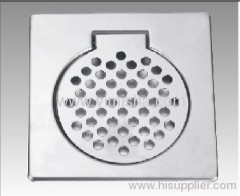 Square Stainless Steel Floor Drainer Cover with Clean Out 8 Inch