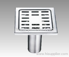 Square Stainless Steel High Siphon Floor Drain with Outlet Diameter 45mm