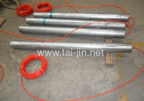 Cathodic protection MMO Titanium tubular fill with petroleum anode