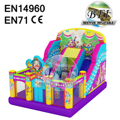 Happy Clown Inflatable Bouncer Slide