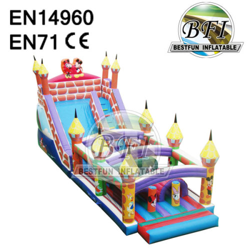 Inflatable Slide Obstacle Combo