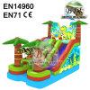 Kids Dino King World Inflatable Dinosaur Slide