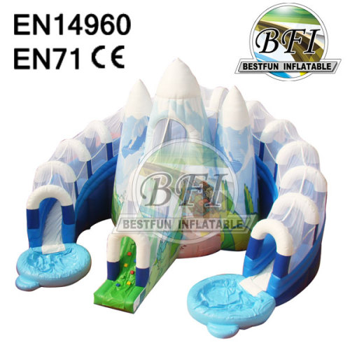 Inflatable Snow Slide Combo