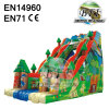 Full Print Double Lanes Inflatable Tropical Water Slide