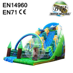 Hot Jungle Themed Inflatable Slide