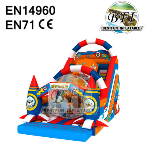 Colorful Castle Bounce Space Inflatable Slide