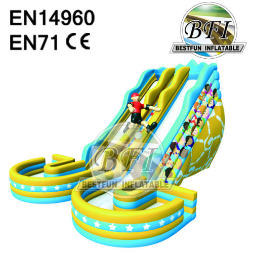 Double Sided Inflatable Water Slide