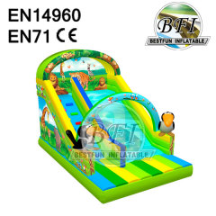 Animal Theme Inflatable Slide