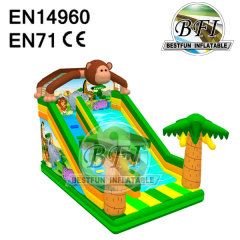 Inflatable Animal Monkey Slide